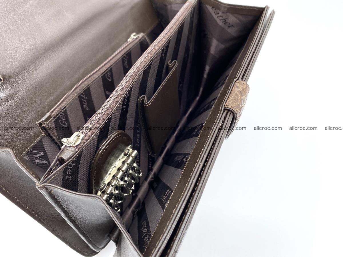 Crocodile skin men's handbag 915 Foto 10