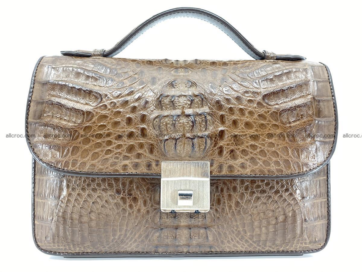 Crocodile skin men's handbag 915 Foto 11