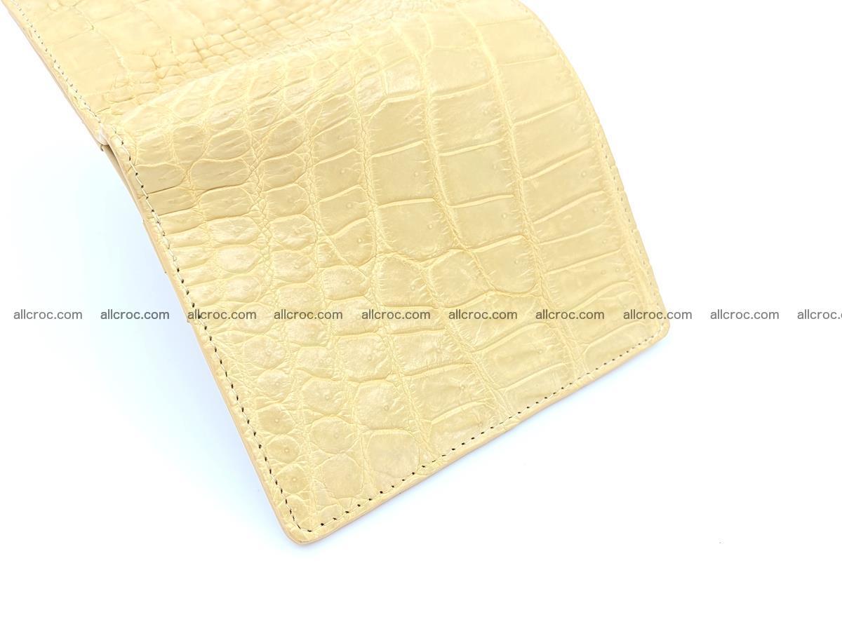Crocodile skin vertical wallet HK 1041 Foto 4