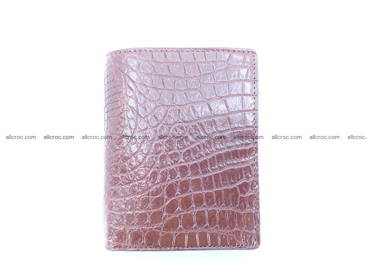 Crocodile skin vertical wallet HK 1043 Foto 0