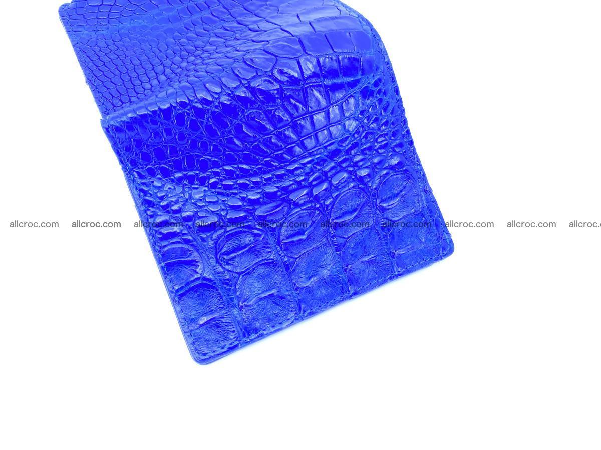 Crocodile skin vertical wallet HK 1048 Foto 3