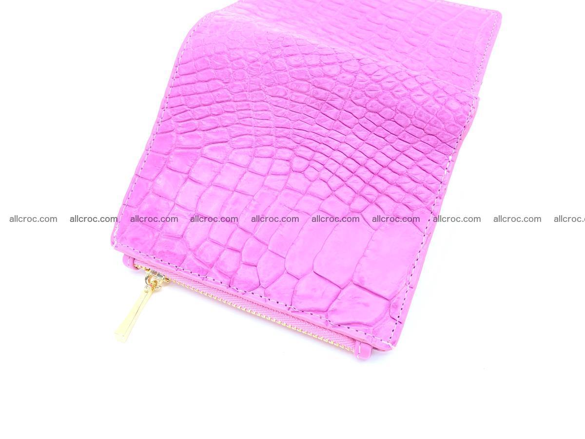 Crocodile skin vertical wallet HK 1044 Foto 4