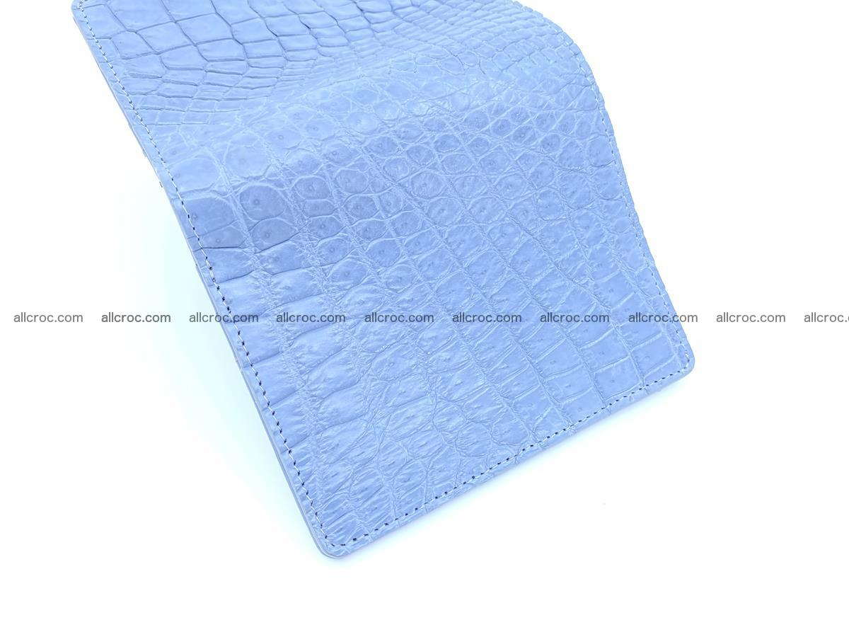 Crocodile skin vertical wallet HK 1046 Foto 6