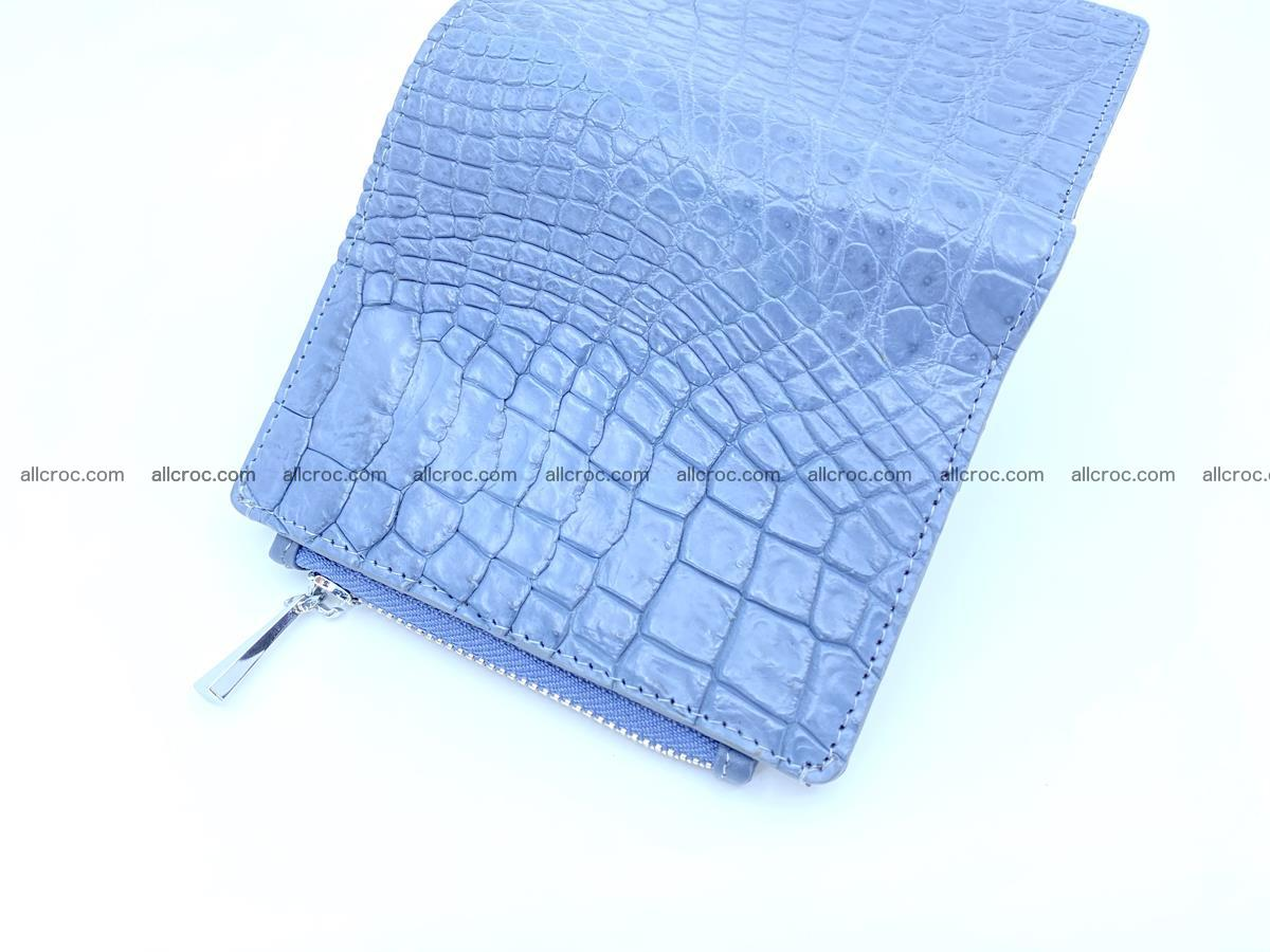 Crocodile skin vertical wallet HK 1046 Foto 7