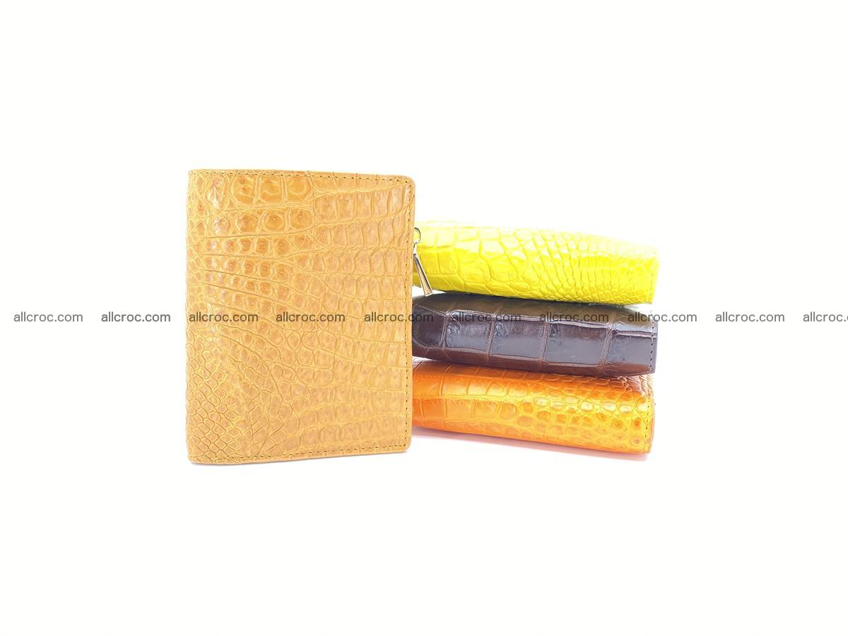 Crocodile skin vertical wallet HK 1040 Foto 7