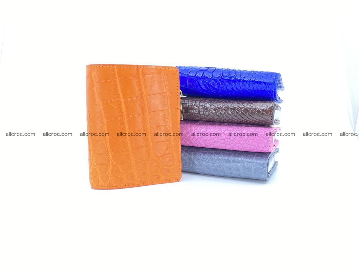 Crocodile skin vertical wallet HK 1045 Foto 7