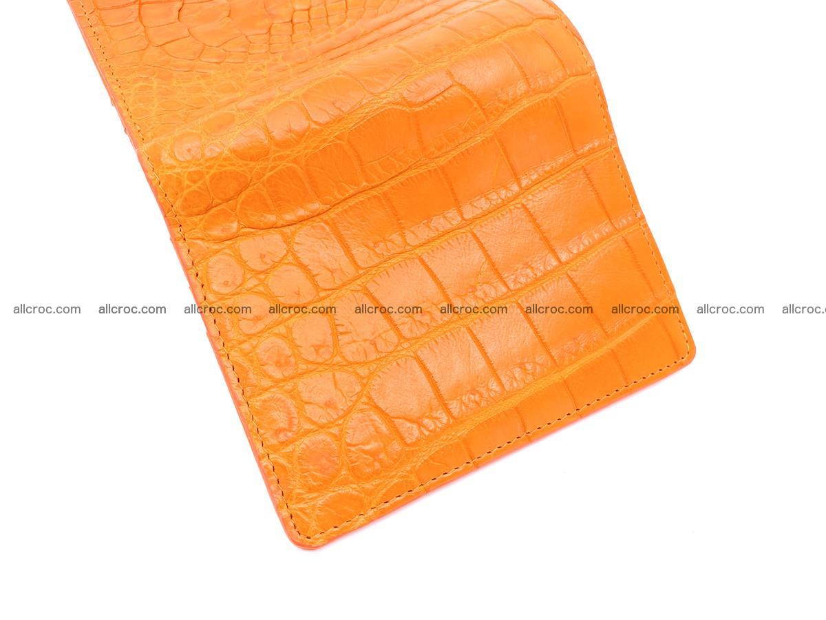 Crocodile skin vertical wallet HK 1045 Foto 4