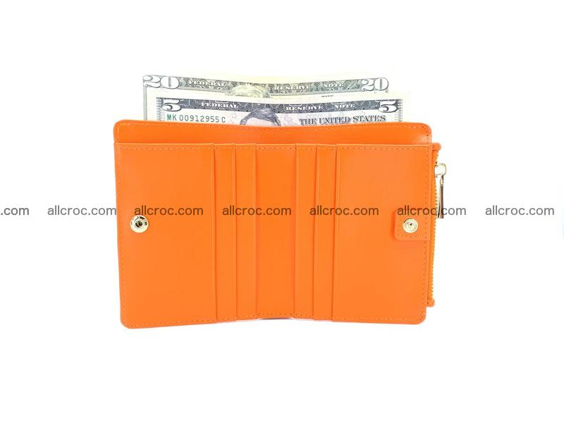 Crocodile skin vertical wallet HK 1045