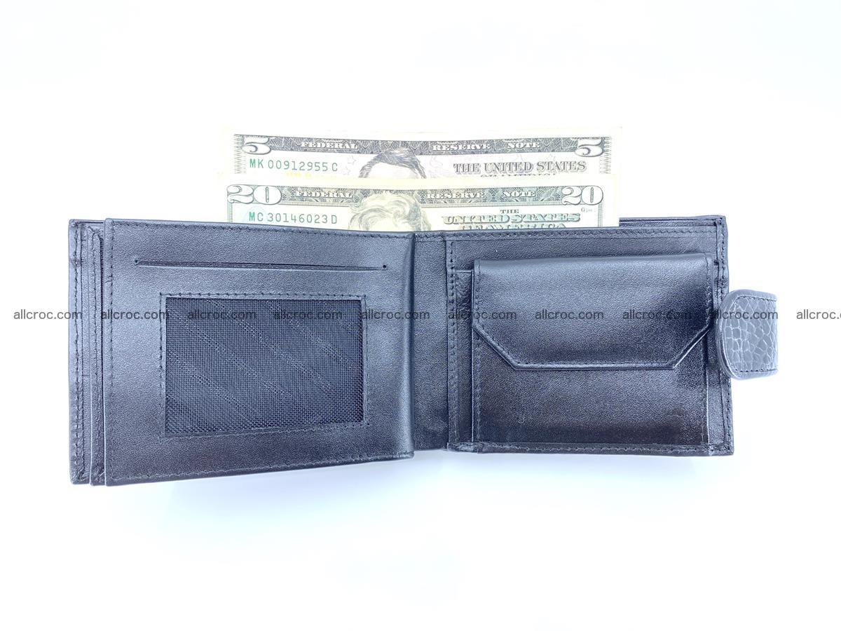 Crocodile skin wallet with pocket for coins and half belt 951 Foto 11