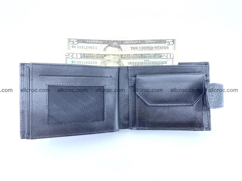 Crocodile skin wallet with pocket for coins and half belt 951
