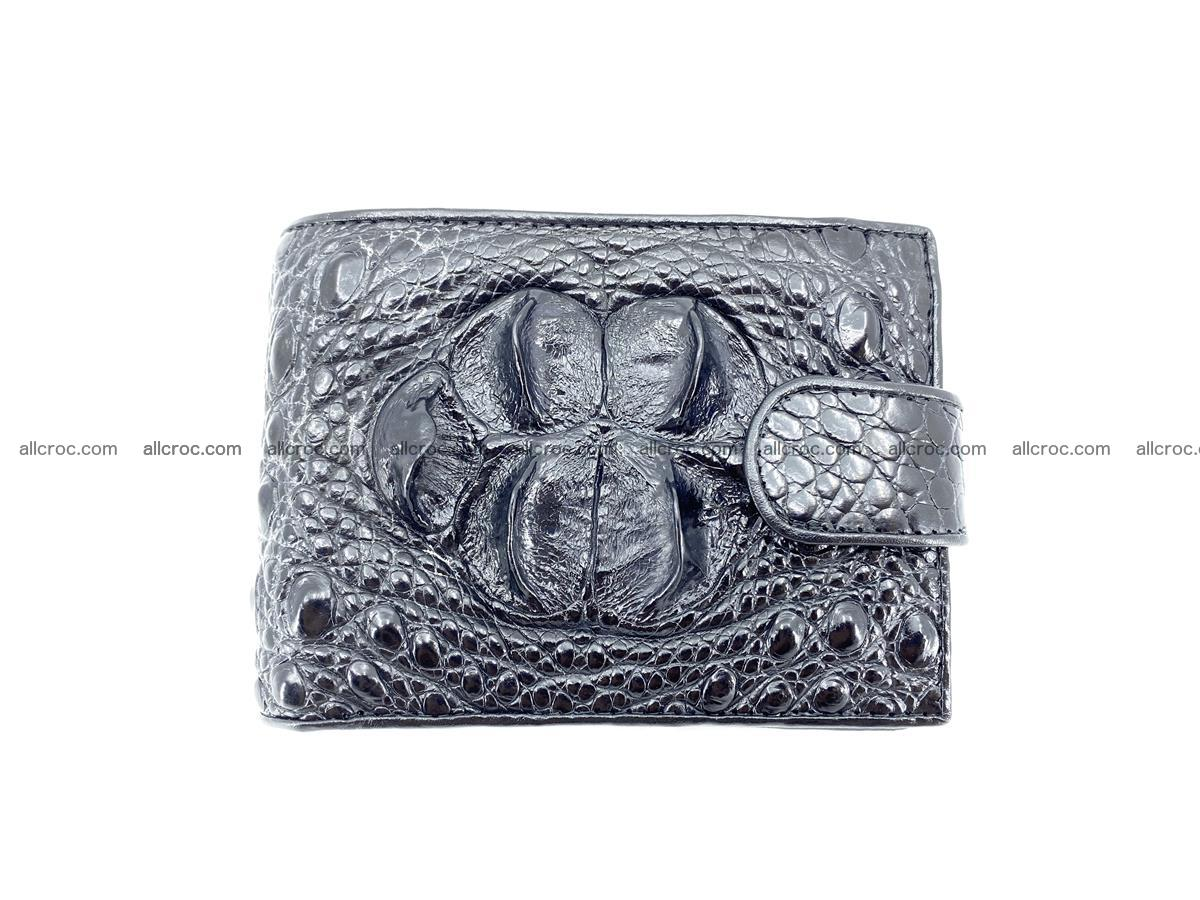 Crocodile skin wallet with pocket for coins and half belt 951 Foto 0