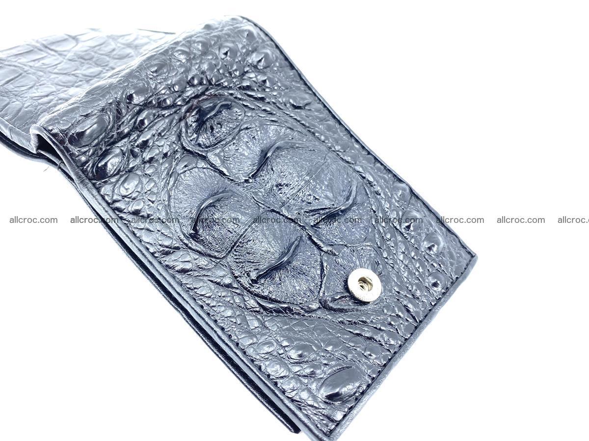 Crocodile skin wallet with pocket for coins and half belt 951 Foto 4