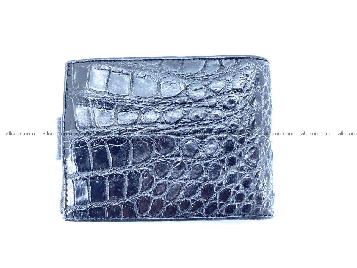Crocodile skin wallet with pocket for coins and half belt 951 Foto 1