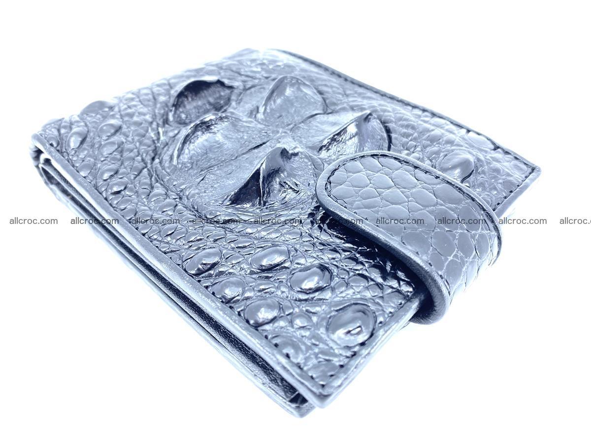 Crocodile skin wallet with pocket for coins and half belt 951 Foto 7