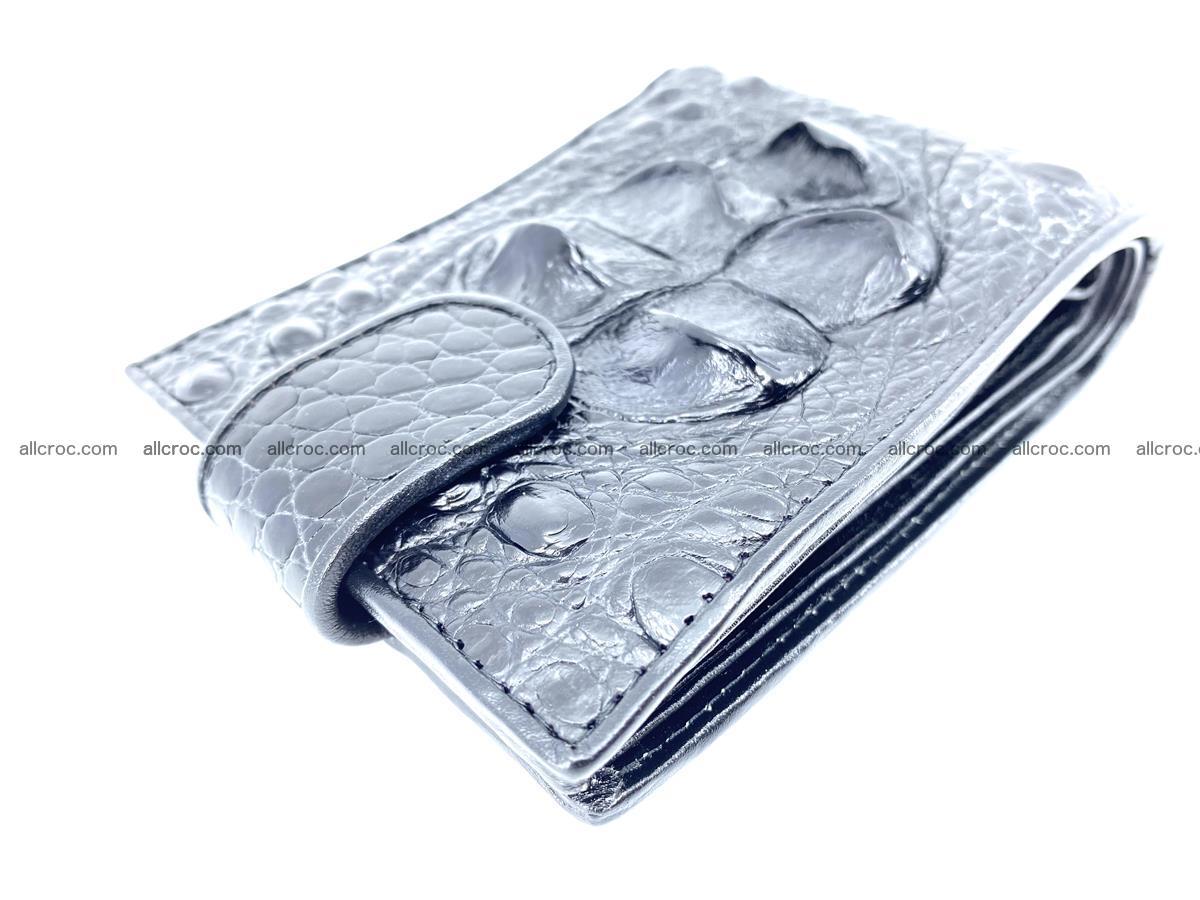 Crocodile skin wallet with pocket for coins and half belt 951 Foto 6