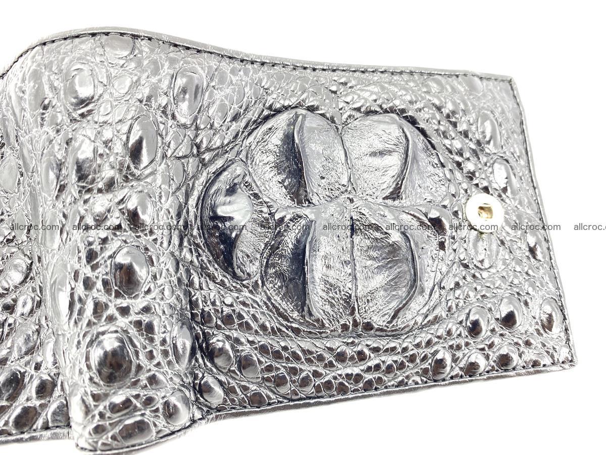 Crocodile skin wallet with pocket for coins and half belt 951 Foto 5
