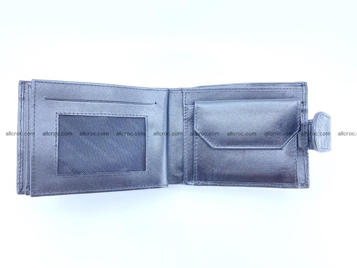 Crocodile skin wallet with pocket for coins and half belt 951 Foto 8