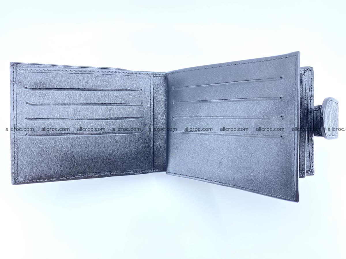 Crocodile skin wallet with pocket for coins and half belt 951 Foto 10