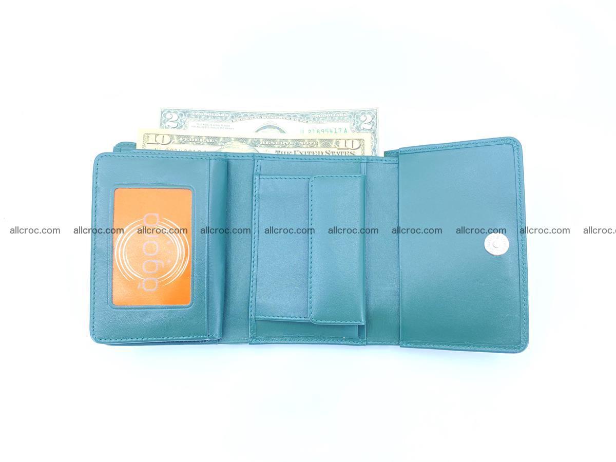 Crocodile skin wallet for women 959 Foto 7