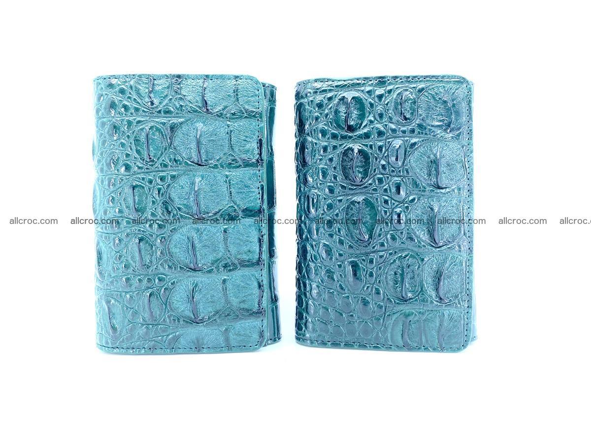 Crocodile skin wallet for women 959 Foto 10