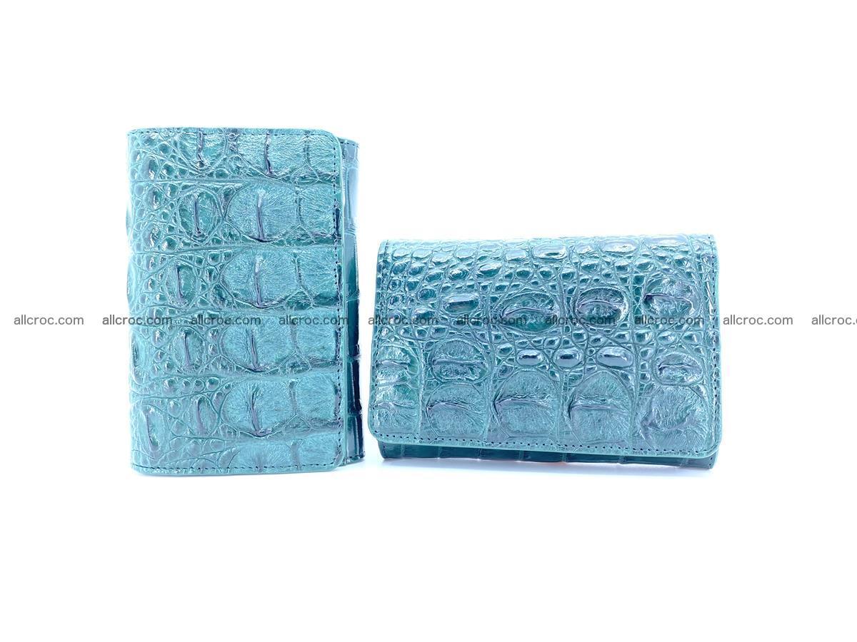 Crocodile skin wallet for women 959 Foto 11