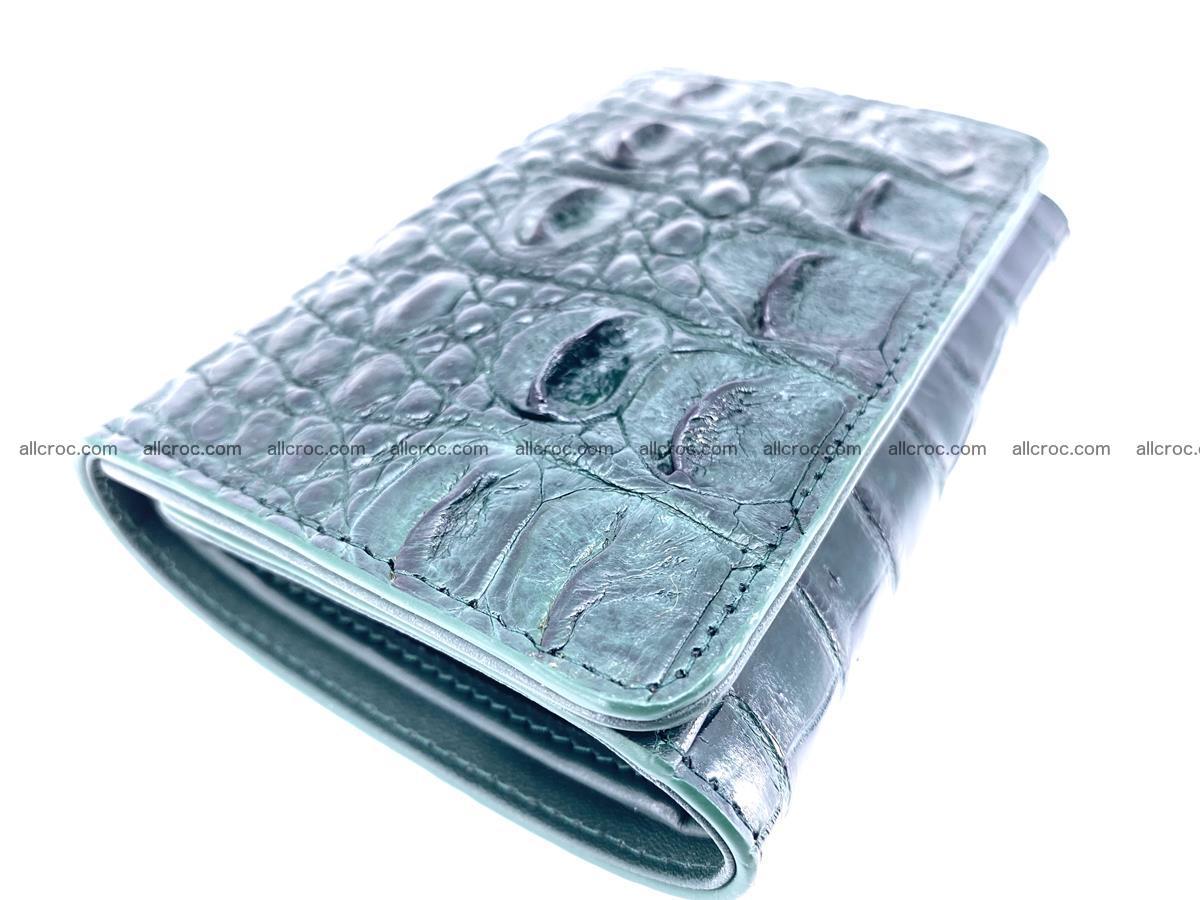Crocodile skin wallet for women 959 Foto 4