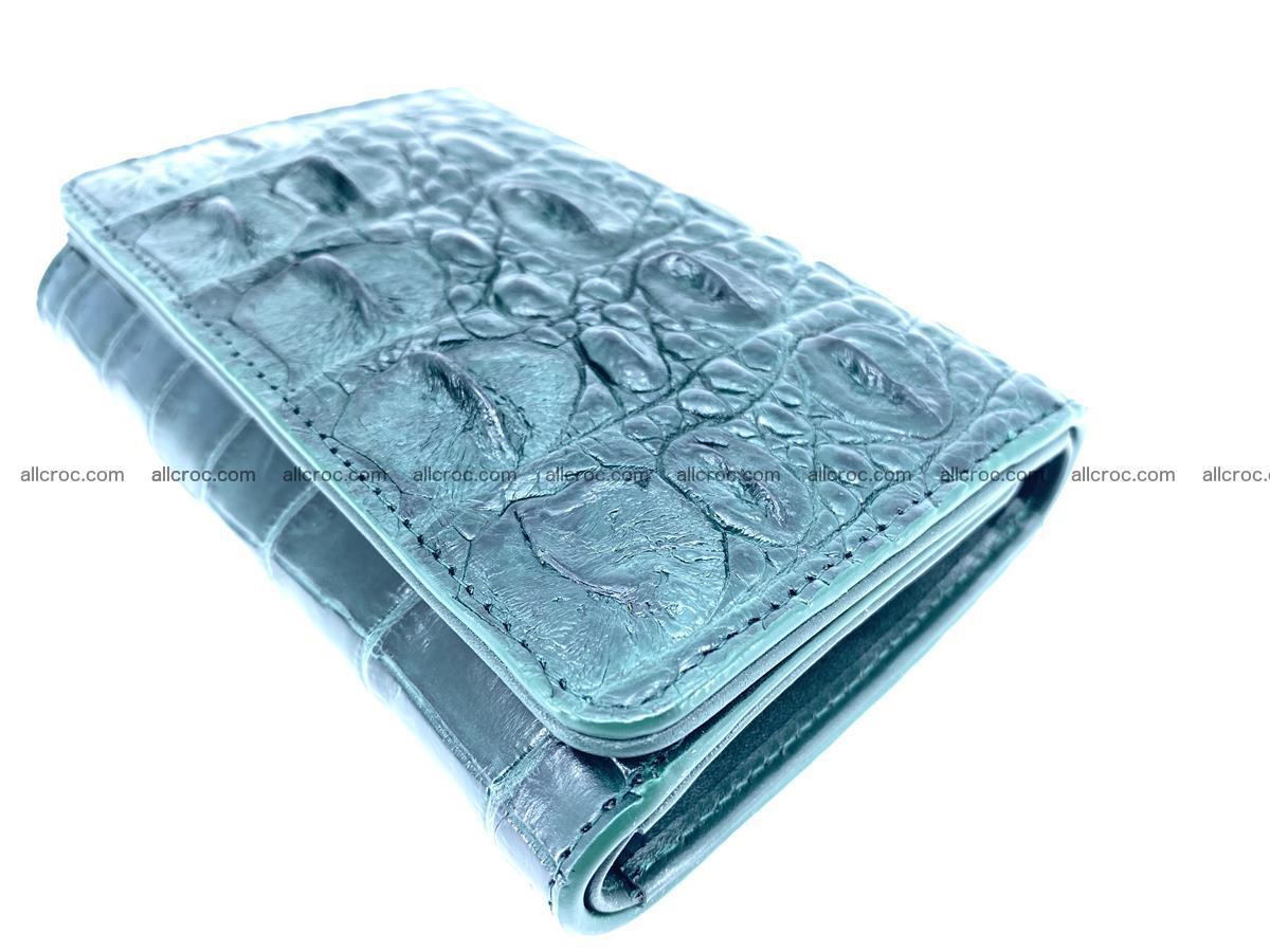 Crocodile skin wallet for women 959 Foto 5