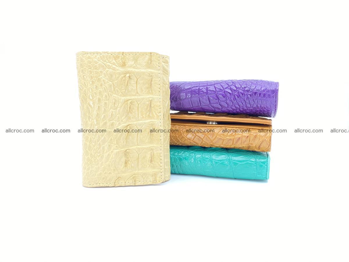 Crocodile skin wallet for women 1025 Foto 11