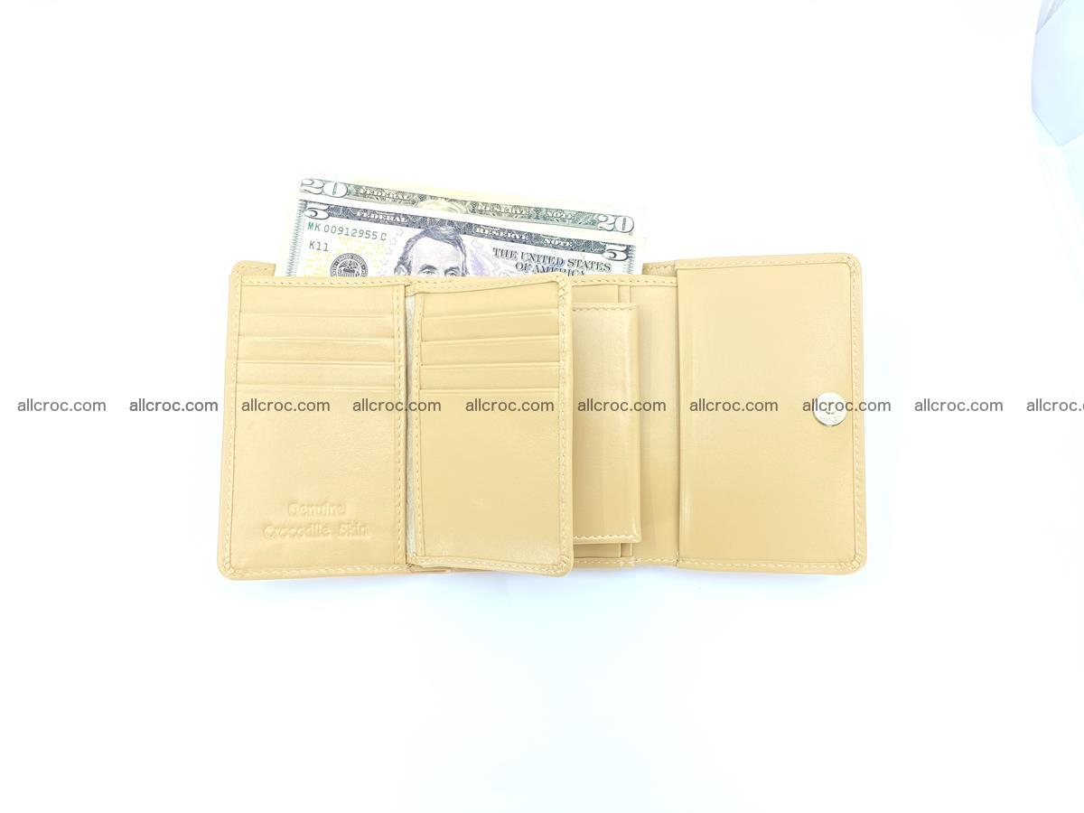 Crocodile skin wallet for women 1025 Foto 10