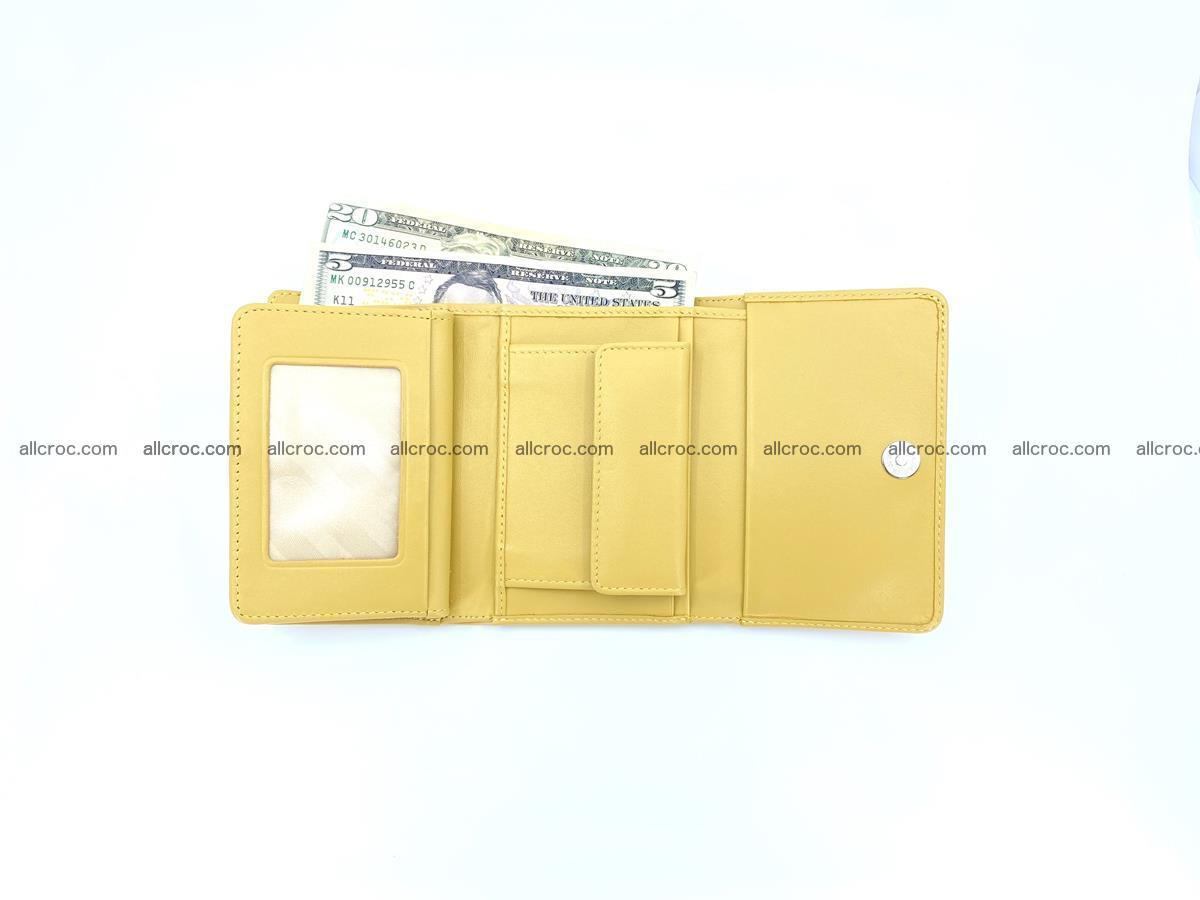 Crocodile skin wallet for women 1028 Foto 11