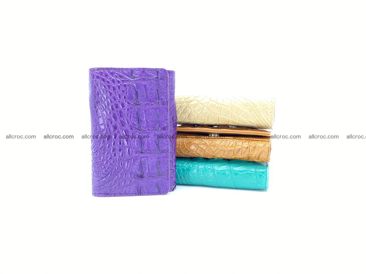 Crocodile skin wallet for women 1026 Foto 11