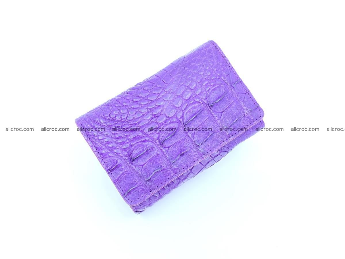 Crocodile skin wallet for women 1026 Foto 4
