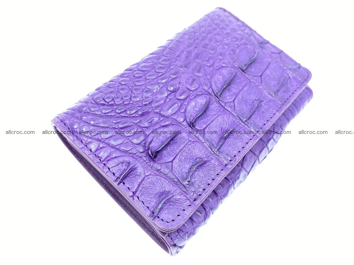 Crocodile skin wallet for women 1026 Foto 5