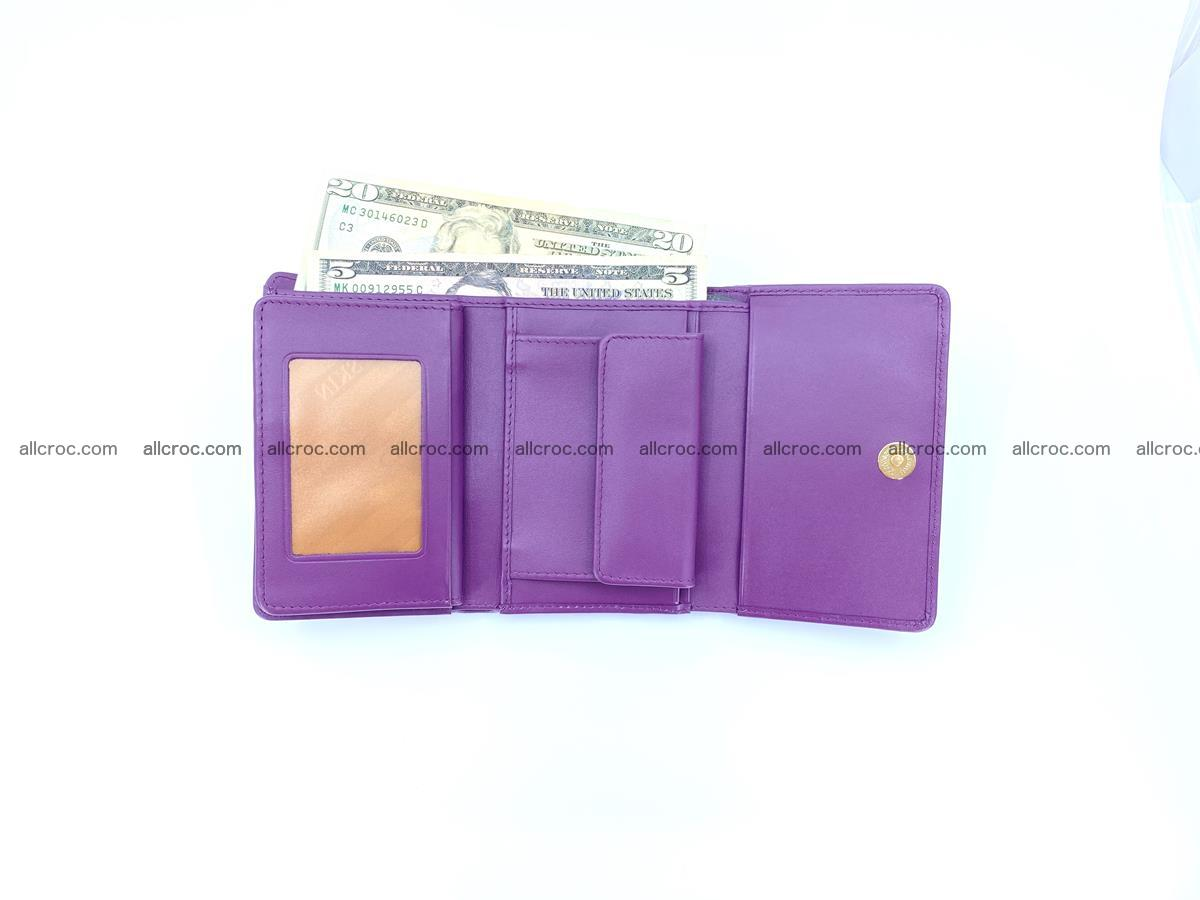 Crocodile skin wallet for women 1026 Foto 9