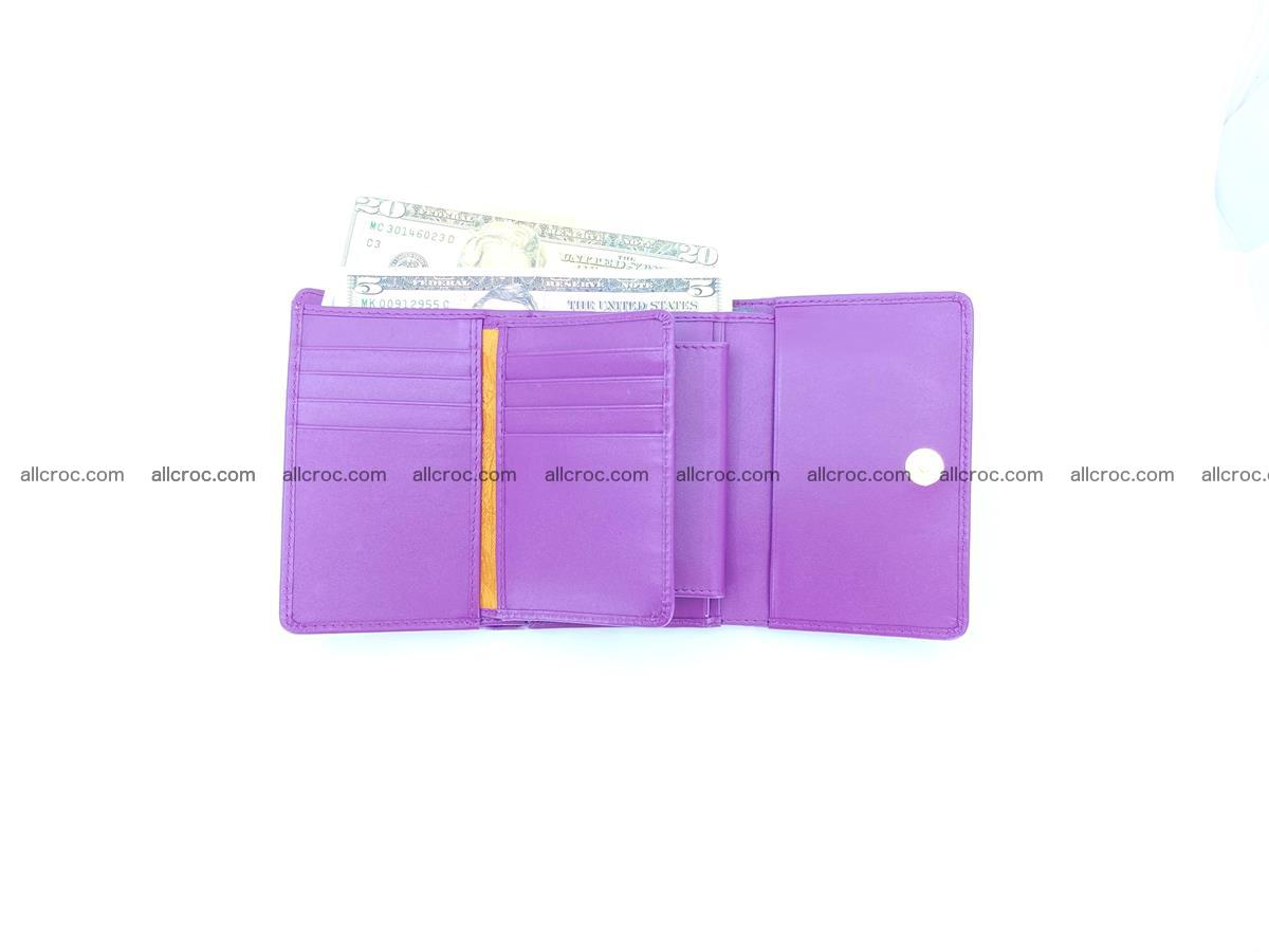 Crocodile skin wallet for women 1026 Foto 10