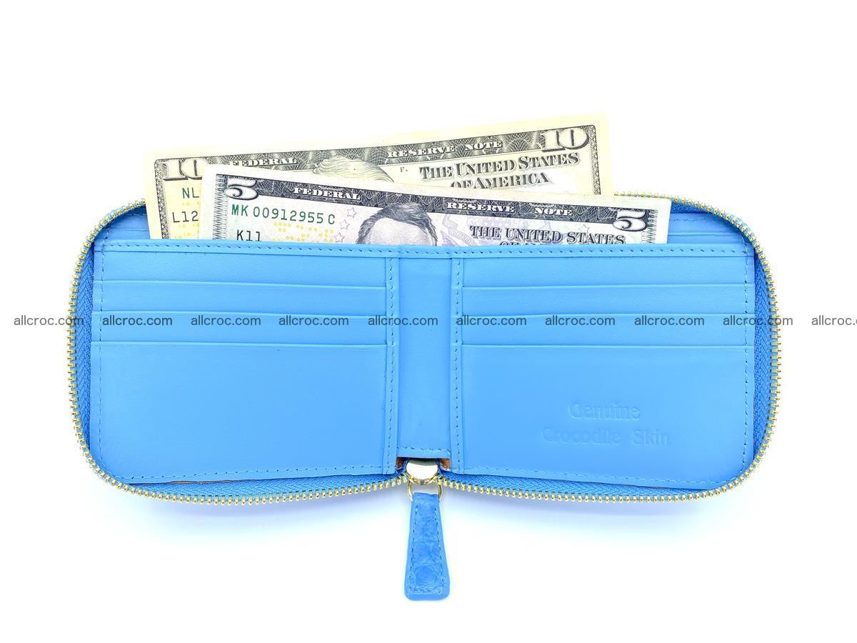 Crocodile skin wallet, short billfold 1445 Foto 6
