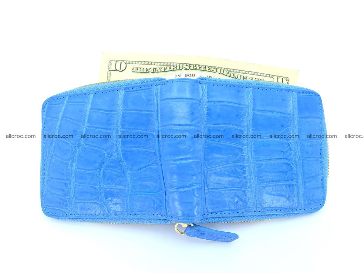 Crocodile skin wallet, short billfold 1445 Foto 5