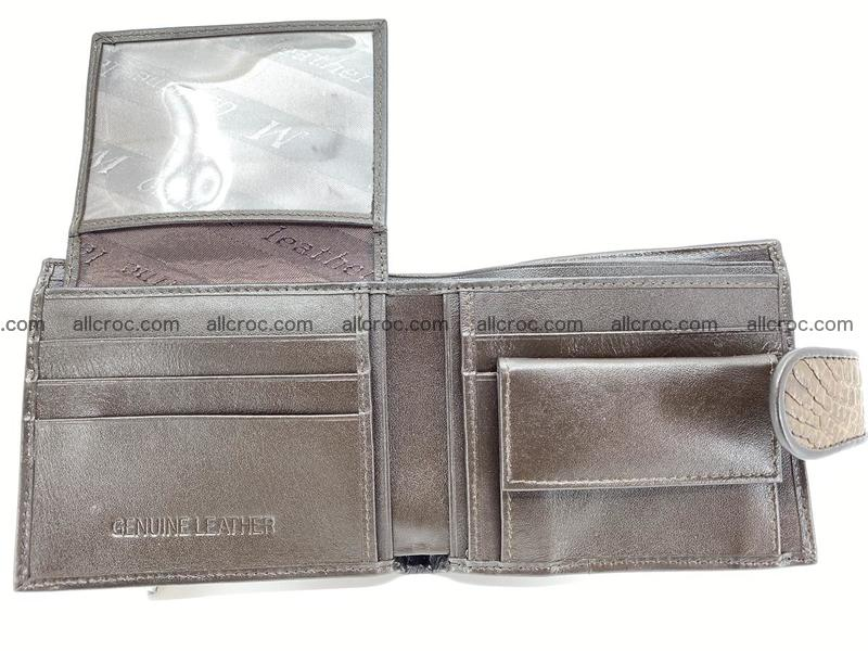 Crocodile skin wallet with strap 913