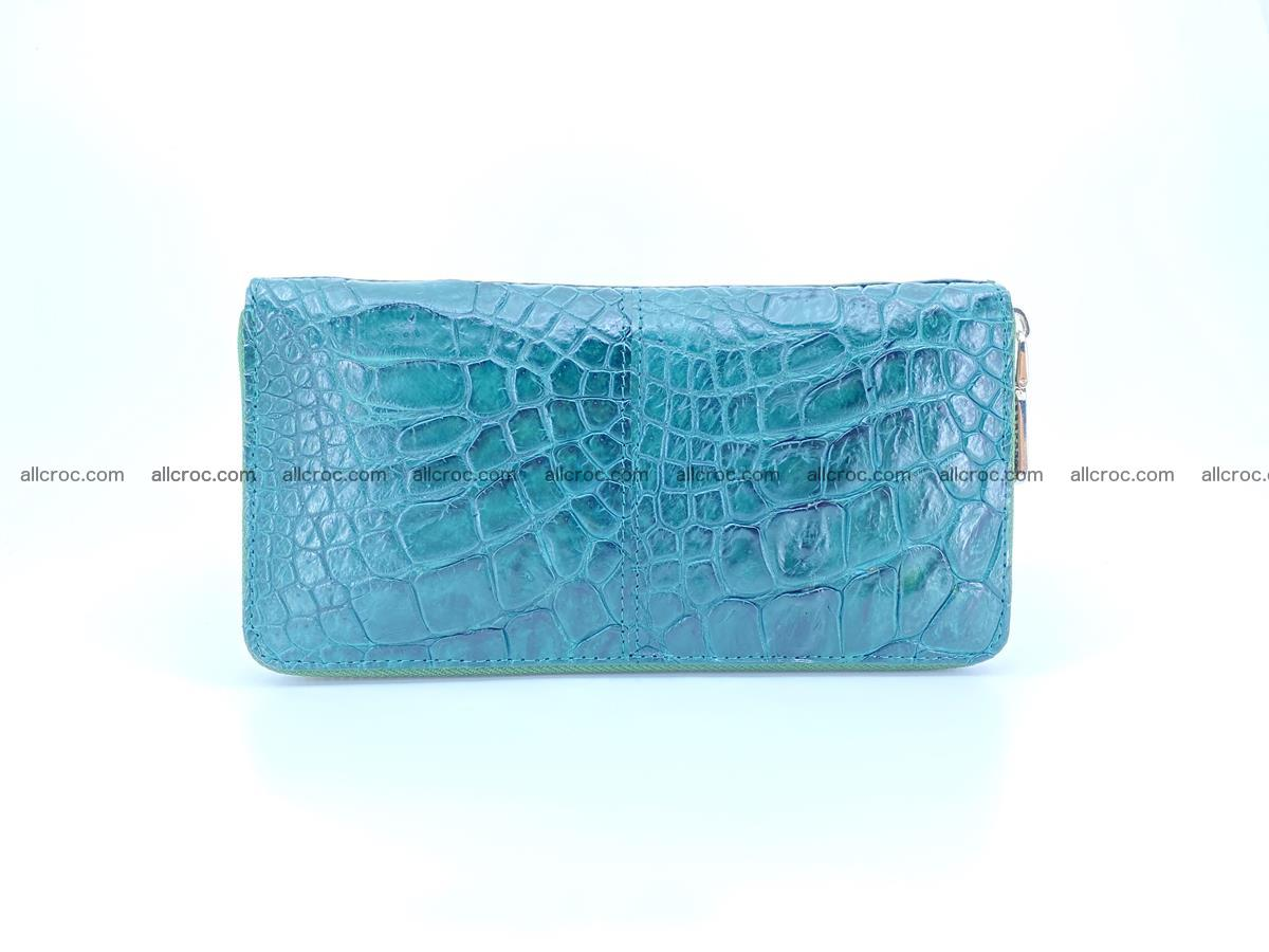 Crocodile skin wallet with zip 971 Foto 0
