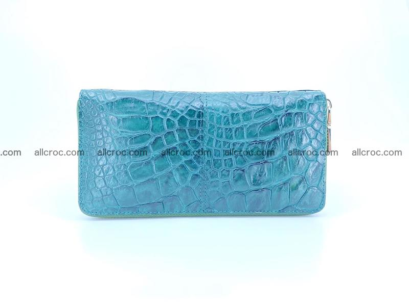 Crocodile skin wallet with zip 971