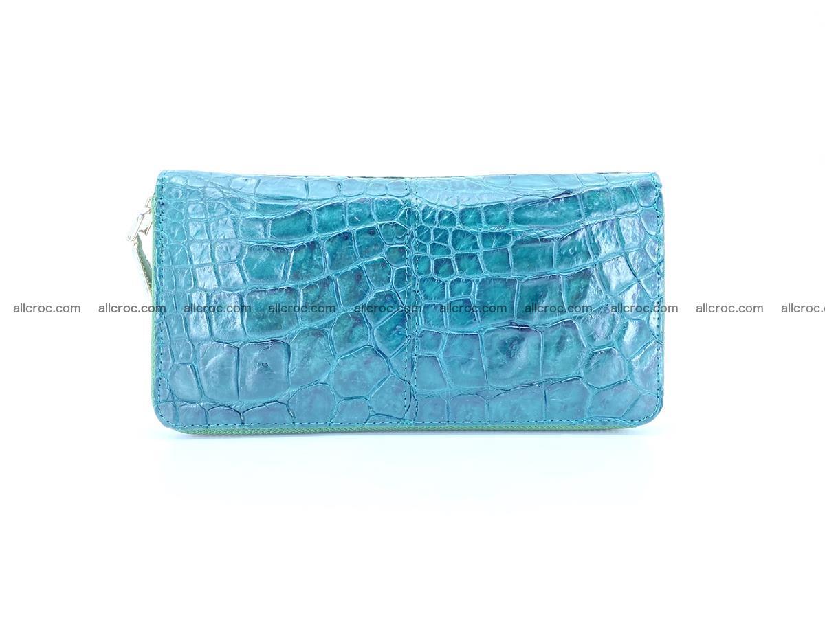Crocodile skin wallet with zip 971 Foto 1