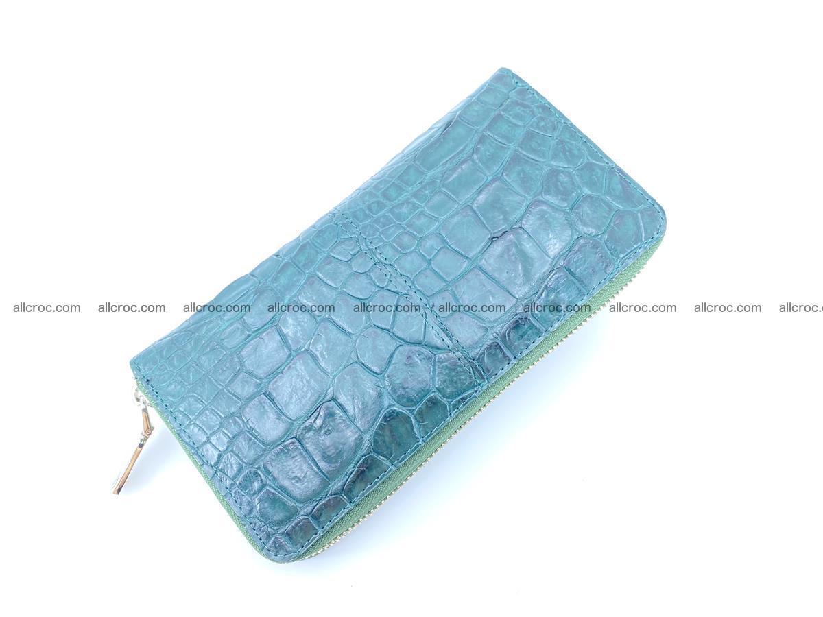 Crocodile skin wallet with zip 971 Foto 6