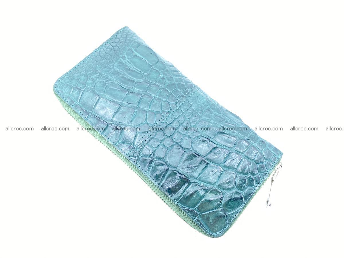 Crocodile skin wallet with zip 971 Foto 7
