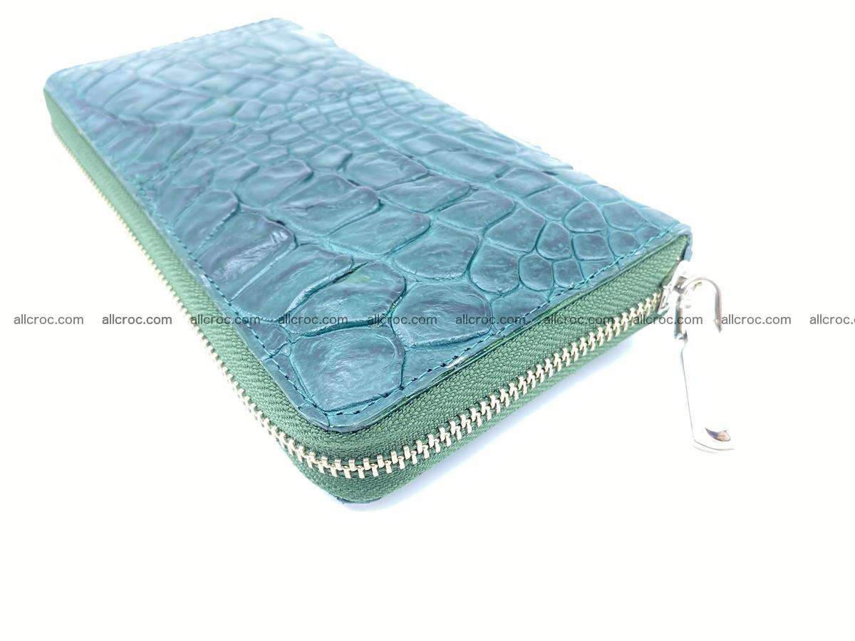 Crocodile skin wallet with zip 971 Foto 8