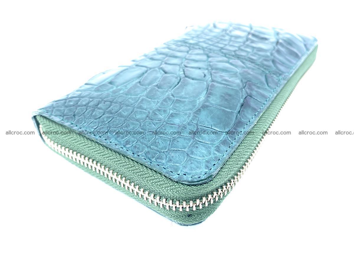 Crocodile skin wallet with zip 971 Foto 9