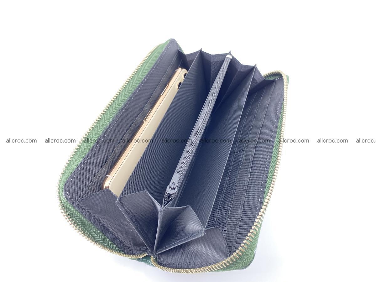 Crocodile skin wallet with zip 971 Foto 12