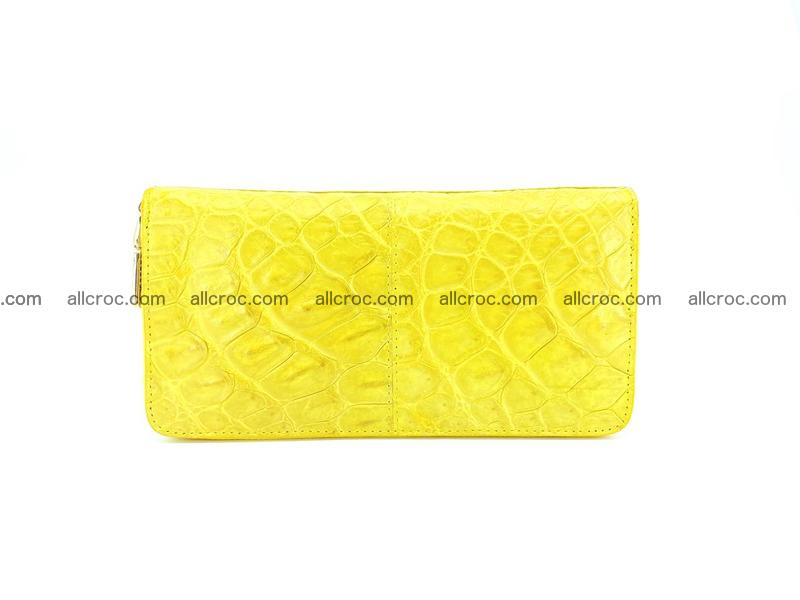 Crocodile skin wallet with zip 972