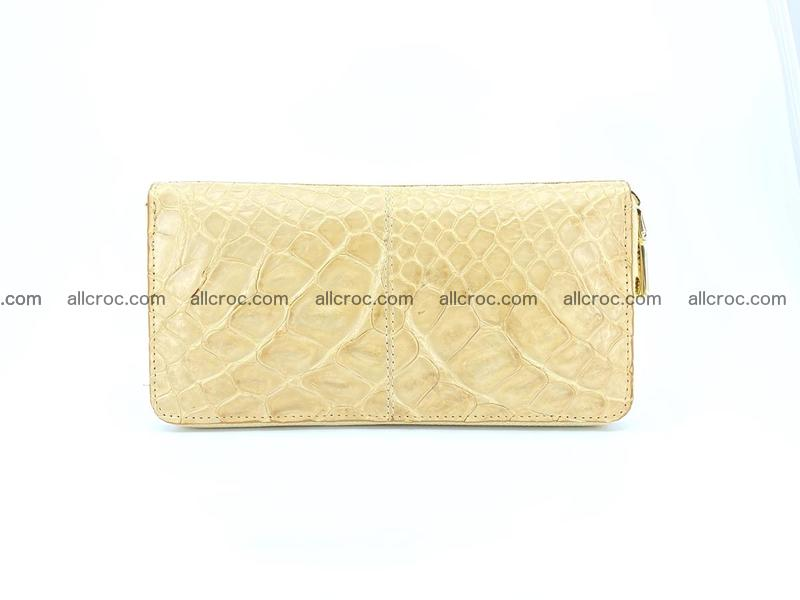 Crocodile skin wallet with zip 974