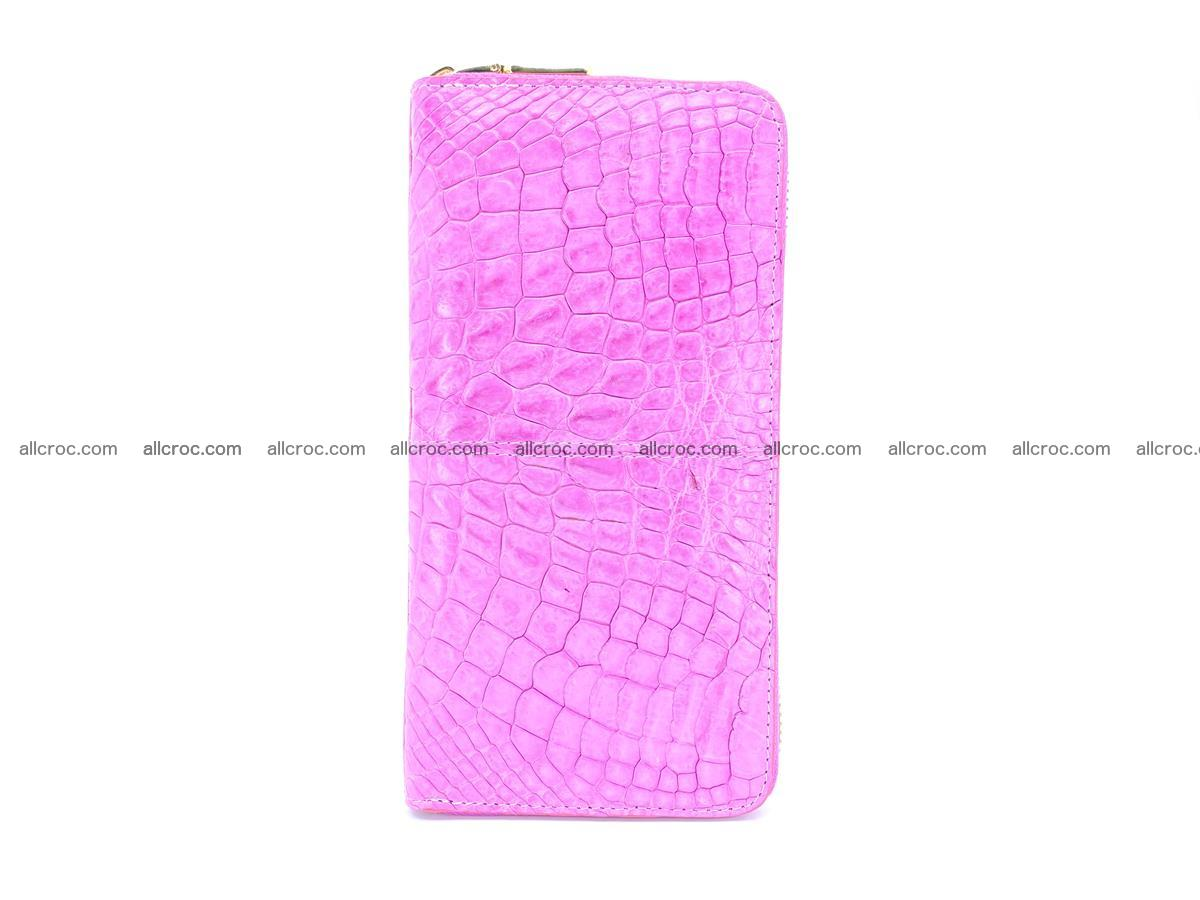 Crocodile skin wallet with zip 977 Foto 5