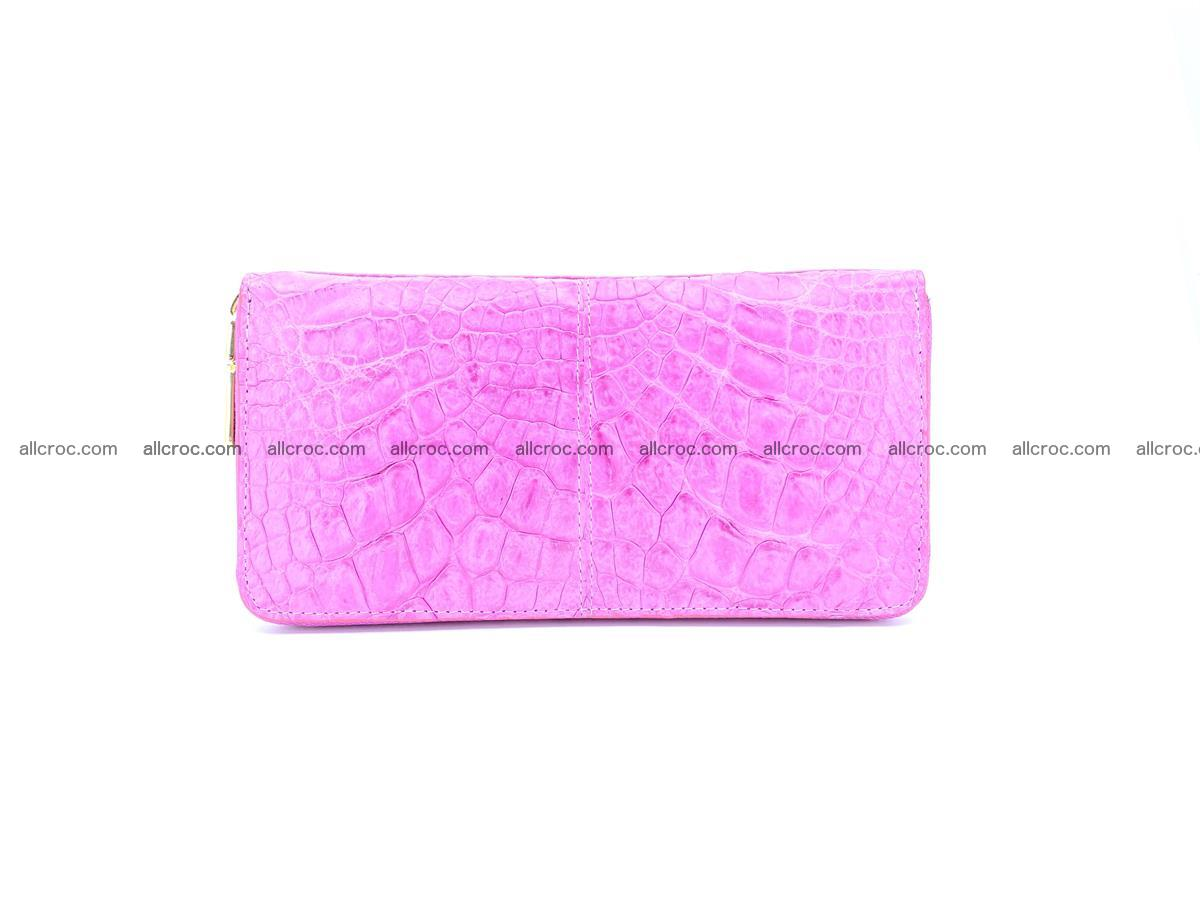 Crocodile skin wallet with zip 977 Foto 0